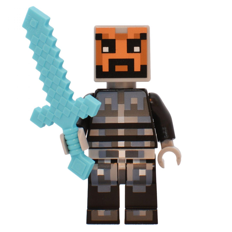 minecraft skin 5 met zilver en zwart harnas